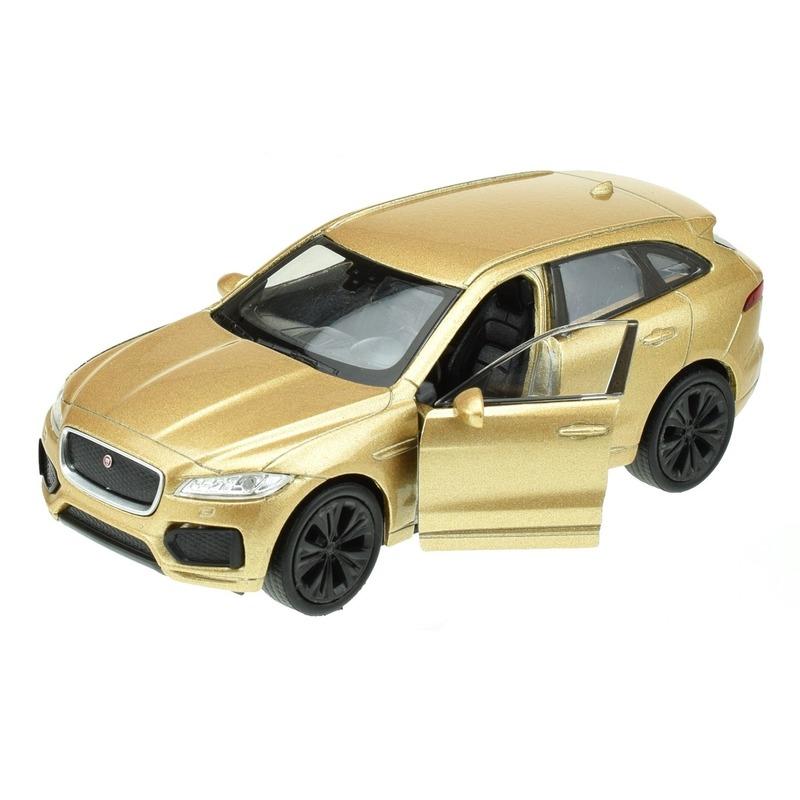 Speelgoedvoertuigen Welly Speelgoedauto Jaguar F pace goudkleurig 1 34