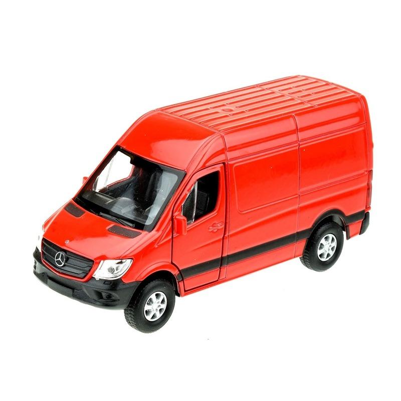 Speelgoedauto Mercedes Benz Sprinter 1 36 rood Welly Speelgoedvoertuigen