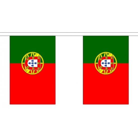 Landen versiering en vlaggen Geen Stoffen vlaggenlijn Portugal 3 meter