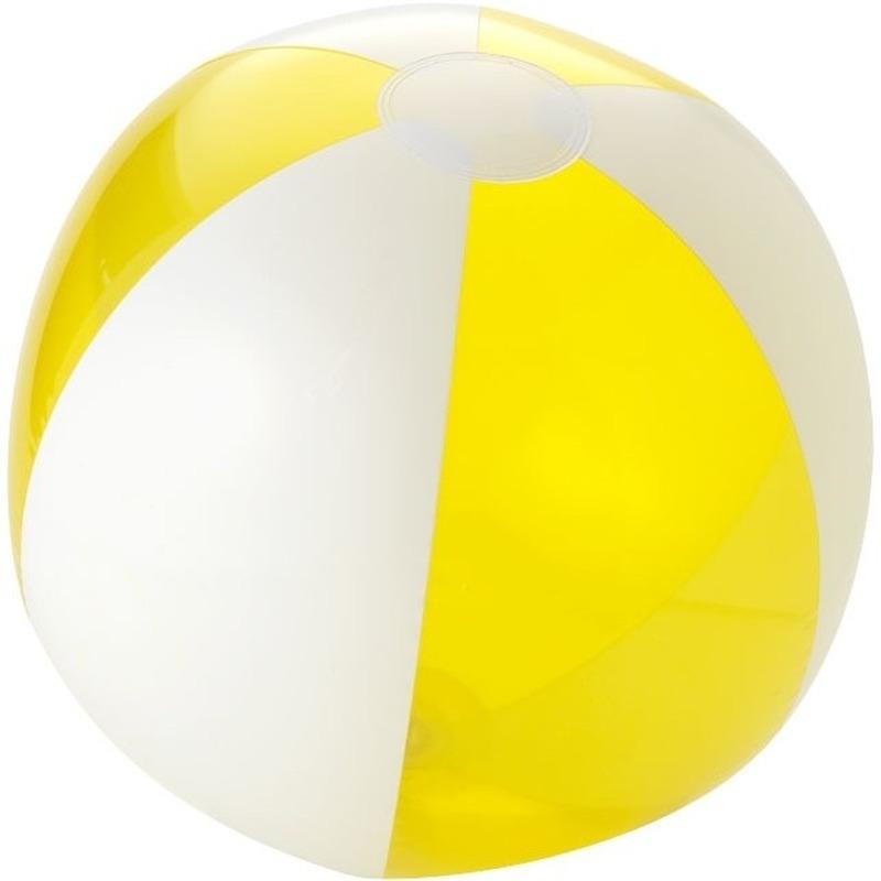 Strandballen geel met wit