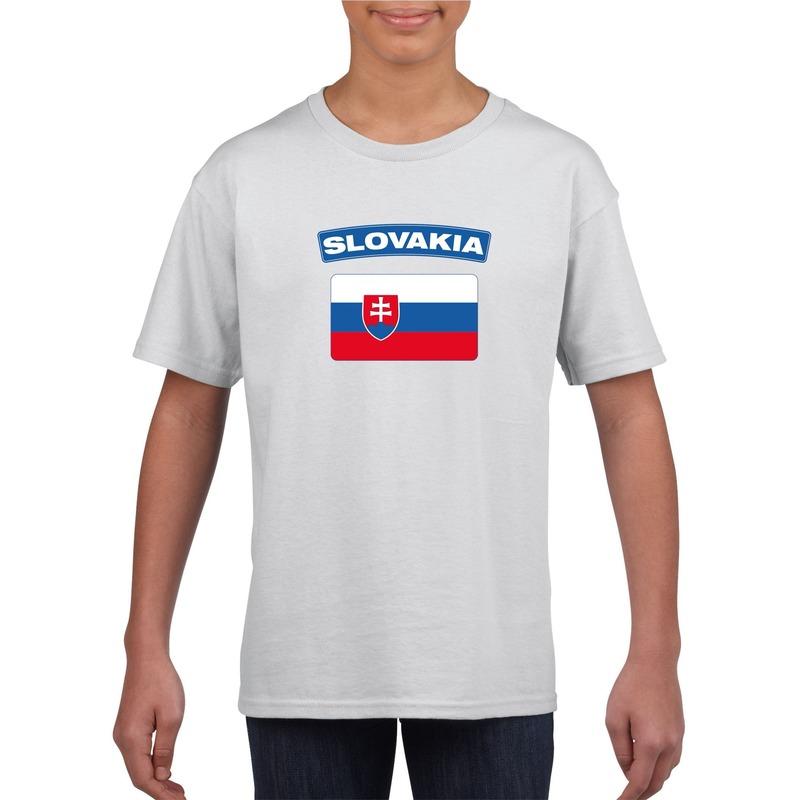 T shirt Slowaakse vlag wit kinderen Shoppartners Het leukste