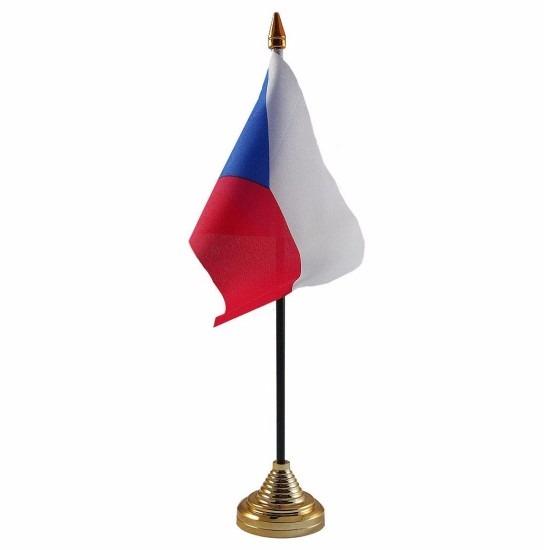 Landen versiering en vlaggen Tsjechie versiering tafelvlag 10 x 15 cm