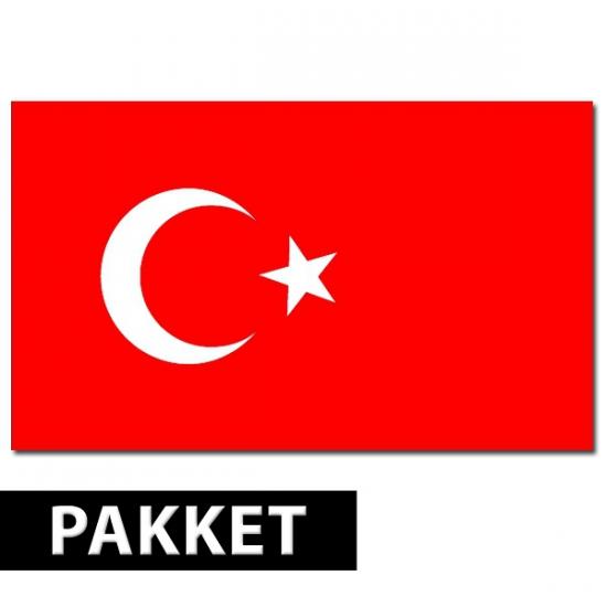 Landen versiering en vlaggen Turkse versiering pakket