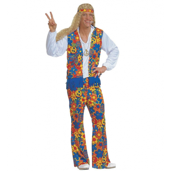 Hippie kleding voor mannen. deze hippie kleding voor mannen bevat een gebloemde broek in verschillende ...