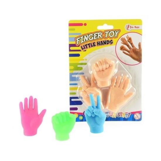 Vingerhandjes poppetjes 3 kleuren Geen Speelgoed diversen