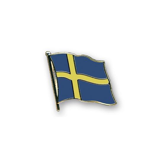 Landen versiering en vlaggen Geen Vlag speldjes Zweden