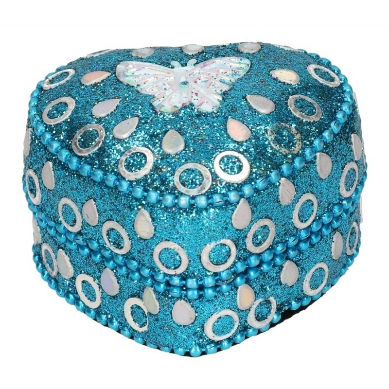 Vlinder tandendoosje blauw 6 cm Geen beste prijs