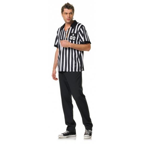 Leg avenue scheidsrechter outfit voor heren. 2 delig heren scheidsrechter verkleed set met overhemd en met ...
