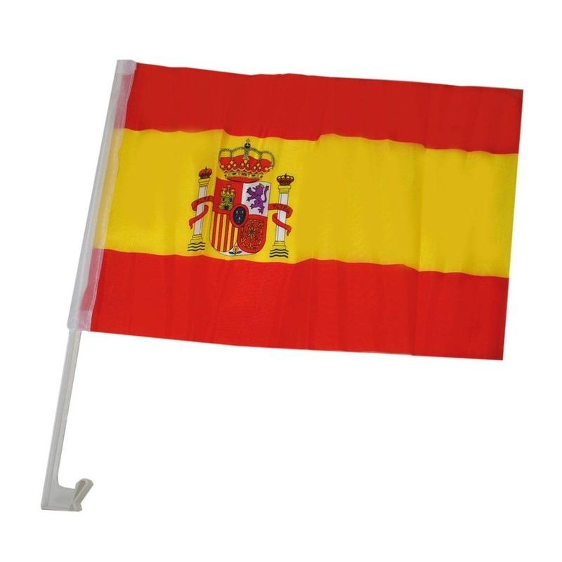 Landen versiering en vlaggen Voordelig model autovlag Spanje