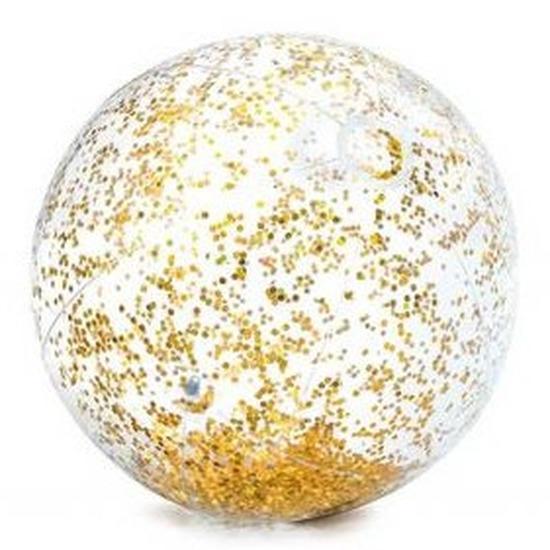 Waterspeelgoed gouden glitters strandbal 71 cm