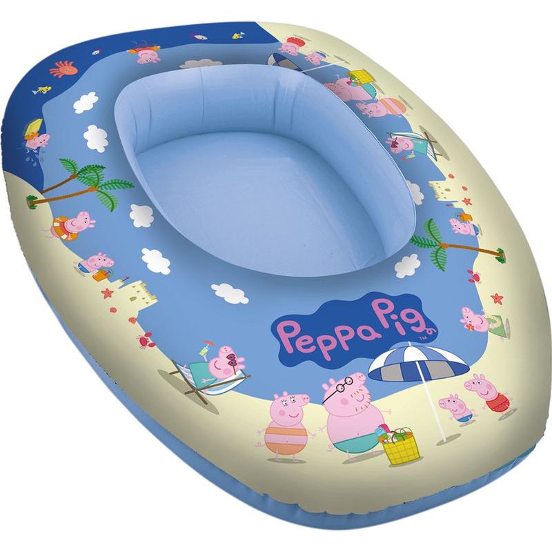 Waterspeelgoed Peppa Big-Pig opblaasboot 80 x 54 cm voor jongens-meisjes-kinderen