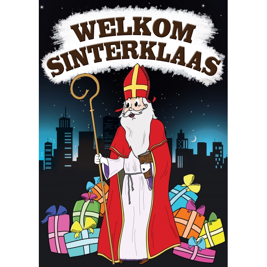 Welkom Sinterklaas versiering poster decoratie