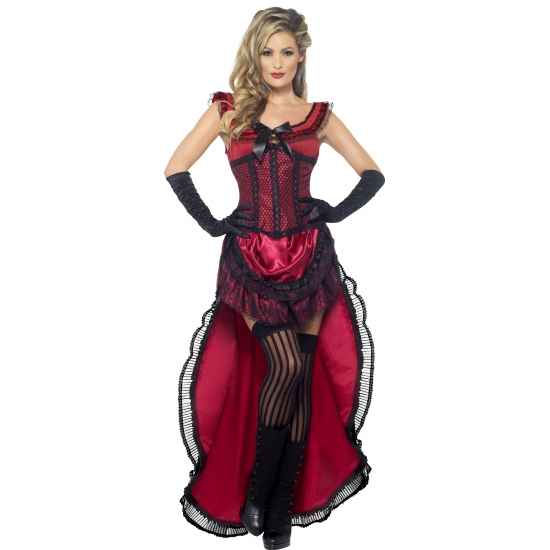 Western brothel babe kostuum. dit ouderwetse sexy western kostuum voor dames bestaat uit een rood met zwarte ...
