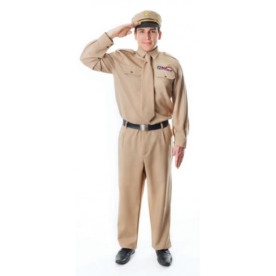 Generaal kostuum in kaki kleur. een leger officier kostuum voor heren. generaals kostuum zoals in de tweede ...