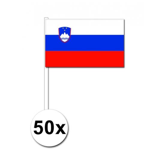 Geen Zwaaivlaggetjes Slovenie 50 stuks Landen versiering en vlaggen