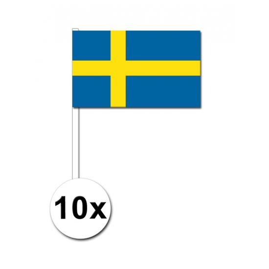 Zwaaivlaggetjes Zweden 10 stuks Geen nieuw
