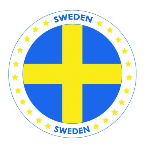 Zweden thema bierviltjes Shoppartners Landen versiering en vlaggen