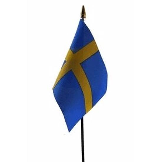 Landen versiering en vlaggen Zweden vlaggetje polyester
