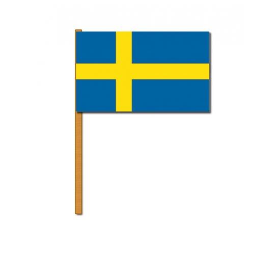 Landen versiering en vlaggen Zweden zwaaivlaggetjes