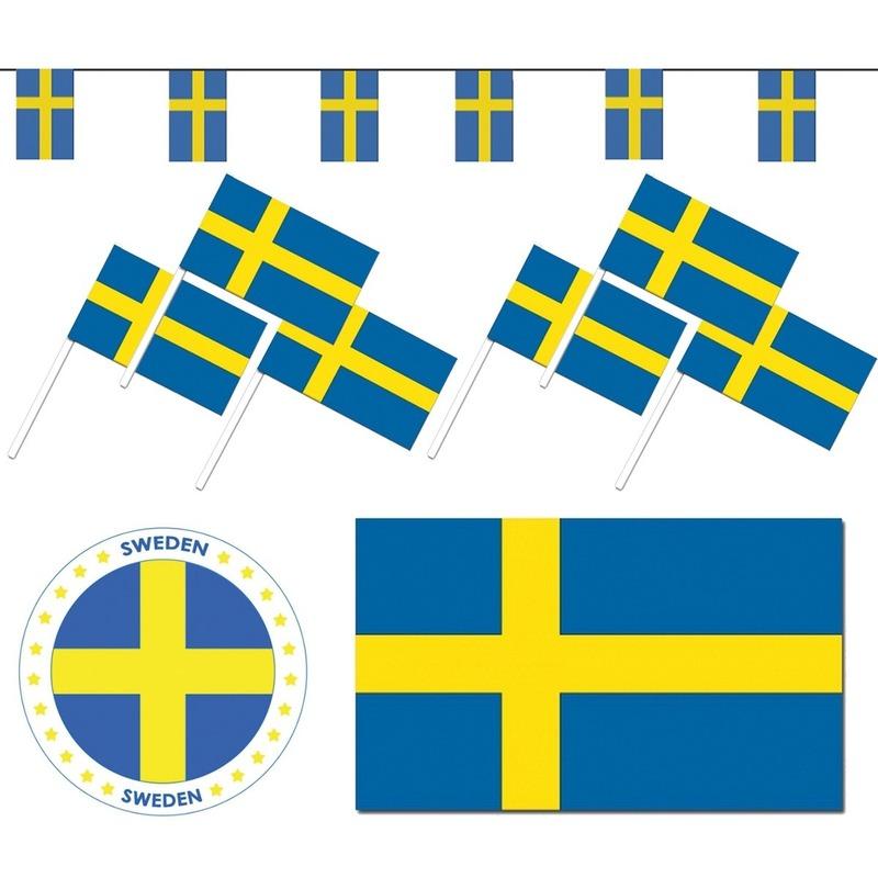 Landen versiering en vlaggen Geen Zweedse decoraties versiering pakket