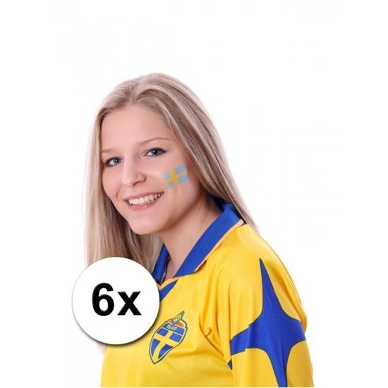 Voordeel 32% Korting Zweedse vlag tattoeages 6 stuks